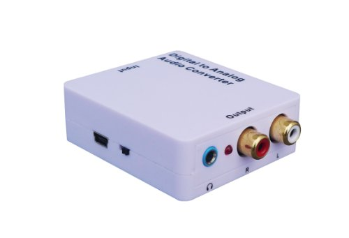 Affordable WELEY Digital to Analog Audio Converter with phone jack, Convert Coaxial or Toslink Digit...