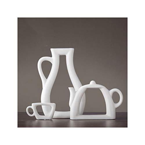 Lionel Philip 3 Teile/Satz Nordic Einfache Moderne Vase Dekoration Kreative Wohnzimmer Studie Dekoration Schrank Keramik Vase Blume Teekanne Vase Keine Blumen