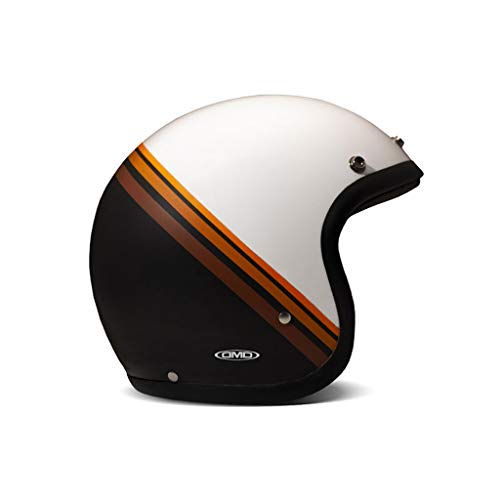 DMD Vintage Coffee Break weiß braun Open Face Helm Jethelm Motorradhelm, S