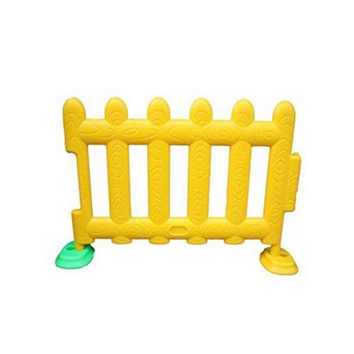 LIUFS-Laufställe Kinderschutzzaun Einzelspielzaun Indoor- Und Outdoor-Aktivitätszentrum Kunststoffzaun Kindergartenschule (Hinweis: Der Zaun Ist EIN Einzelstück) (Color : Yellow)