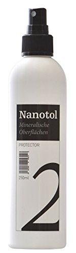 Steinversiegelung Steinimprägnierung - Nanotol Protector für mineralische Oberflächen - Nanotechnologie Versiegelung für offenporige Steine (250 ml - 5m²)