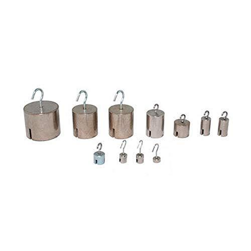 Biolab MECA 110667-25 Zylindermassen mit Haken, 200 g, 25 Stück