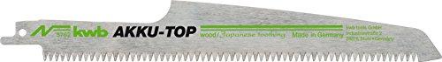 Kwb AKKU TOP reciprozaagbladen in praktische set van 2 voor hout - zaagblad van HCS koolstofstaal, lengte 230/190 mm, Made in Germany