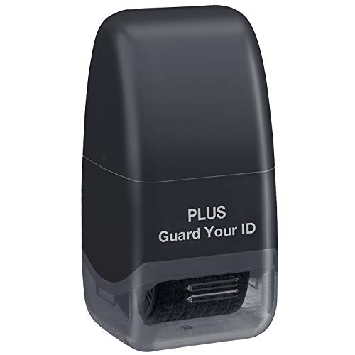 Guard Your ID Identity Protection Security Prevention Stamp Roller (Black) IS-520CM