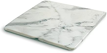 RSVP White Marble Pastry Board, 18-inches Square