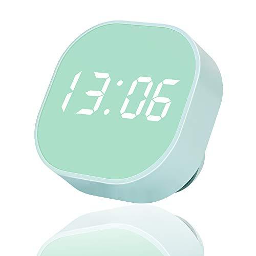 Digital Alarm Clock, Multi-Functional Magnetic LED Smart Sensor Alarm Clock for Kids, Dual Alarm Temperature Countdown Timer, Compact Clock for Desk Bedroom Kitchen Sage Green Decor