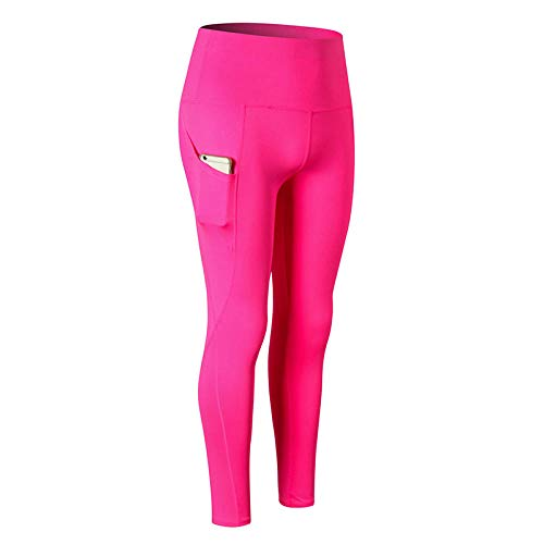 LYWZX Leggings De Yoga para Mujeres Plain Yoga Leggings Compression Fitness Leggings Tummy Control Athletic Yoga Pants Hip Up Leggings Sport Women Fitness-B_L