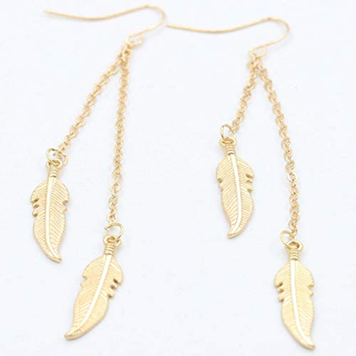 QIN Fashion vintage wing leaf shaped drip earrings female jewelry s hanging earrings Bijoux brincos pendentes girl gift