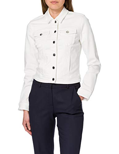 Morgan Veste Denim VPOM Blazer casual, Blanc, T38 para Mujer