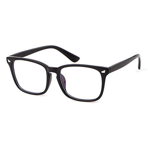 GIFIORE Blaulichtfilter Nerd Brille Ohne Sehstärke Optische Brille Retro Klare Linse für Damen Herren gegen Kopfschmerzen Augenmüde
