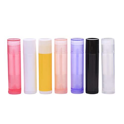 Lurrose 56pcs 5g femmes vides en plastique baume à lèvres tubes de stockage de brillant à lèvres pour dames et filles