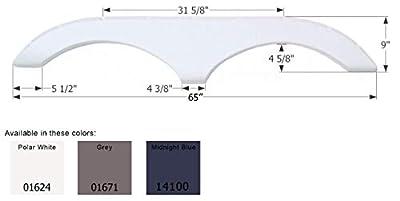 ICON 01624 Tandem Axle Fender Skirt FS770 for Pilgrim - Polar White