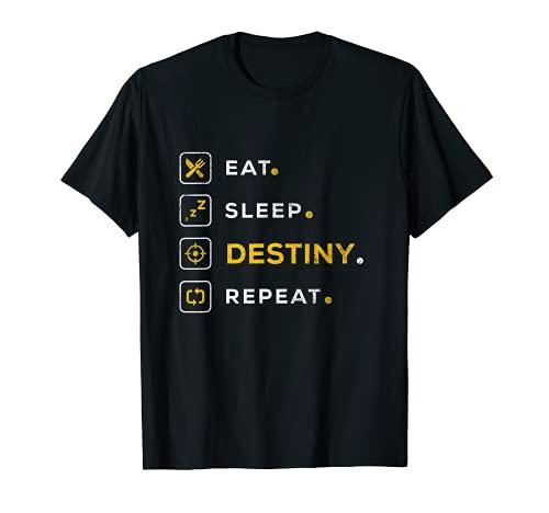 Funny Gamer Christmas Gift Eat Sleep Destiny T-Shirt