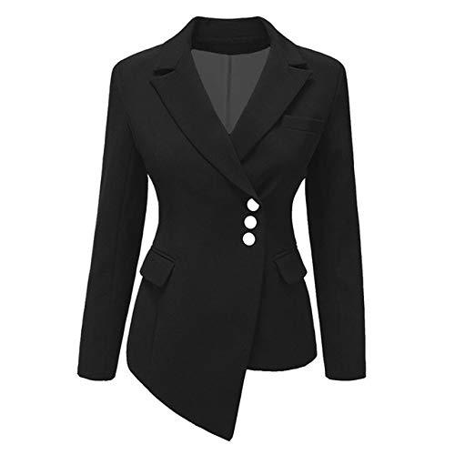 HOSD Blazer da Donna Cintura Stile Europeo Tunica Elegante Blazer Office Lady Abiti Eleganti da Donna P08 XL
