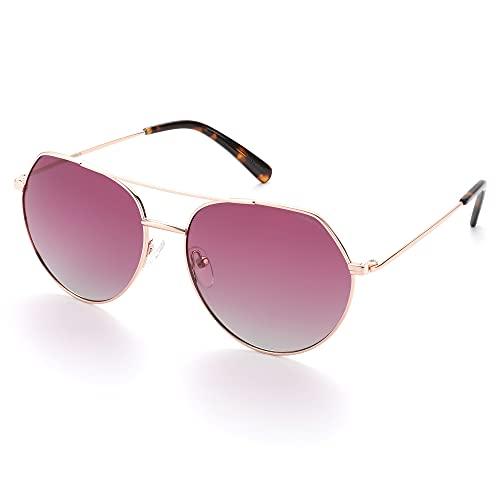 HNGM Gafas de Sol Gafas de Sol Redondas Redondas Polarizadas de la Protección UV400, Gafas de Sol Oval De Moda Hombre, Capucha Ligera RX (Lenses Color : Gradient Pink)