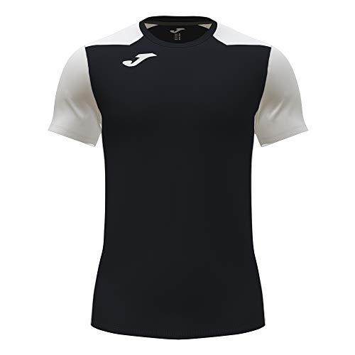 Joma Camiseta Manga Corta Record II Negro Blanco, S