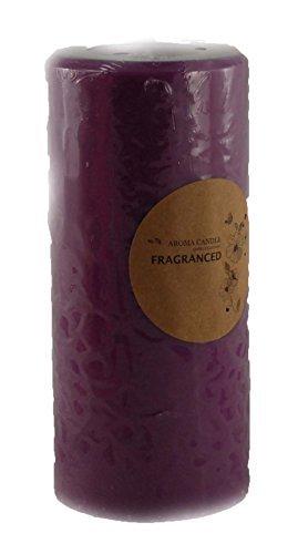 Bougie pilier Violet à cire de palme 68 x 148 mm – Lavande