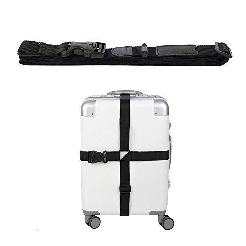 Verstelbare Heavy Duty Bagage Bandjes voor Koffers Zwart Nylon Tie Down Bandjes
