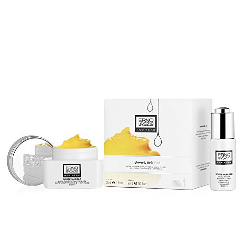 Erno Laszlo White Marble Lighten&Brighten Dual Phase Vitamin C, exfoliante 2 productos