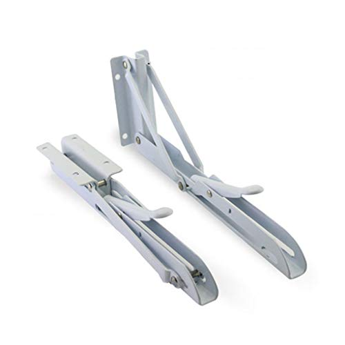 Robuuste inklapbare plankhouders, driehoekig, van metaal, hoge sterkte, inklapbaar, 2 stuks plankscharnieren, wandmontage, maximale draagkracht 75 kg.