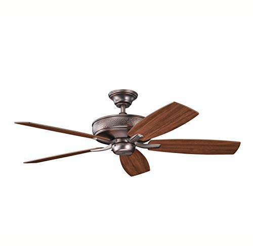 "Kichler 339013OBB, Monarch II Oil Brushed Bronze 52"" Ceiling Fan with Remote Control"
