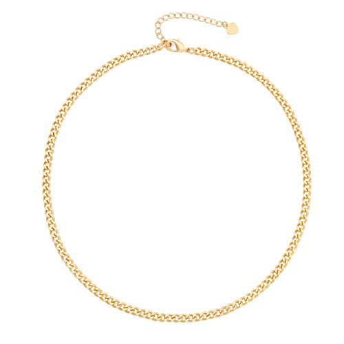 18k-Gold-Paperclip-Chain-Choker-Satellite-Chain-Lava-Bead-Pendant-Necklace-Dainty-Jewelry-for-Women-16