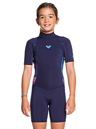 Roxy Girls 3/2mm Syncro Back Zip Shorty Wetsuit - Blue Coral