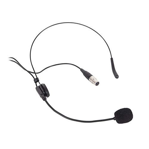 Proel EIKON HCM25 - Micrófono de diadema de condensador miniaturizado con conector mini cannon XLR de 4 pines hembra, negro (HCM25)
