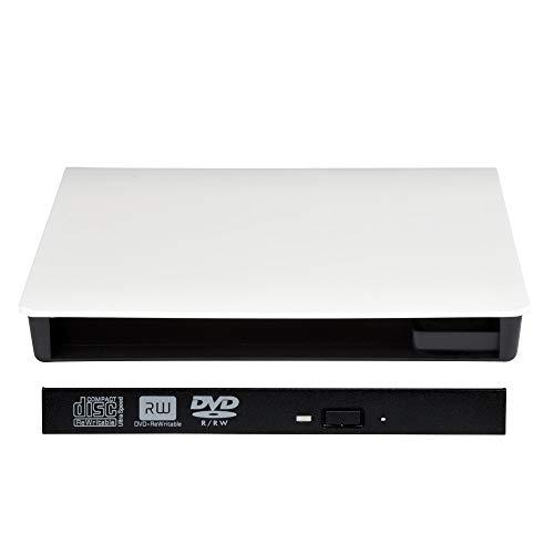 Gehäuse/Case USB 3.0 für Ultraslim 9,5mm Blu-Ray/DVD/CD Laufwerke und Brenner mit SATA Anschluss, Farbe: Weiß