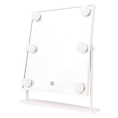 Danielle Creations Hollywood Mirror with Lights, Freestanding Tabletop...