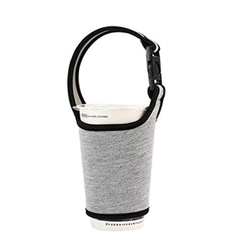 Küchenwaren WJ2 PCS Glas-Wasser-Flaschen-Hülsen Trägerhalter Getränkeschalen-Abdeckung Flaschen Wasserflasche Cup Zubehör (hellgrau) (Farbe : Light Grey)