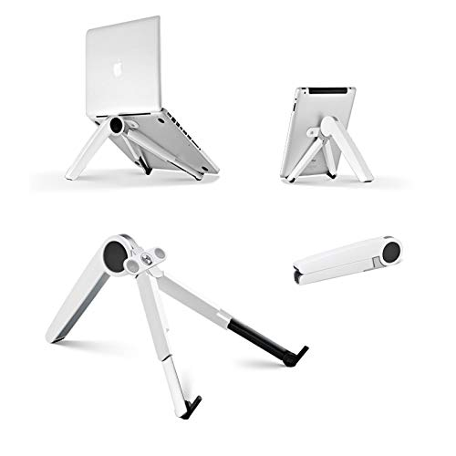 PECHTY Laptop stand, tablet holder, Andy stand, portable multifunction notebook stand, compatible with MacBook, tablet, mobile phone, HP, Samsung, Lenovo, all 10 inch ~ 17 inch notebooks (white)