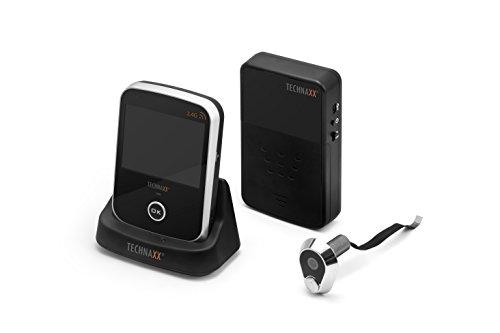 Technaxx Digitaler Kabelloser Türspion TX-75, mit Überwachungskamera und 3,5 Zoll Tischmonitor & Türklingel