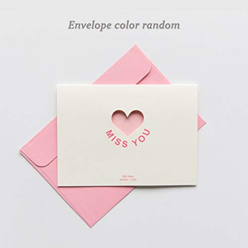 6 Designs Valentines Day Gift Cards Note with 36PCS Envelopes and 36PCS Stickers Perfect as Birthady Babyshower Card 36PCS Thank You Greeting Cards Colorful