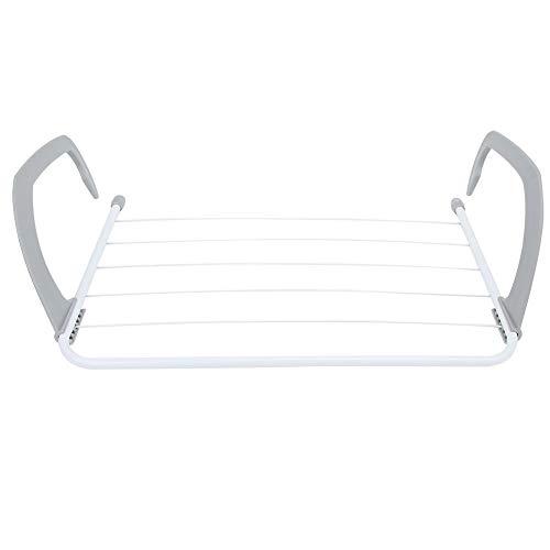 Hancend Trockengestell Rack-Balkon Einziehbare Klappkleidung Wäscheständer Kleiderbügel für den Innen- & Außenbereich