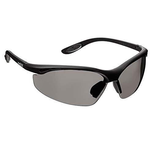 voltX 'CONSTRUCTOR' Gafas de Seguridad que cumplen con la certificación CE EN166F / Gafas para Ciclismo (AHUMADO/GRIS – sin dioptría) Safety Glasses