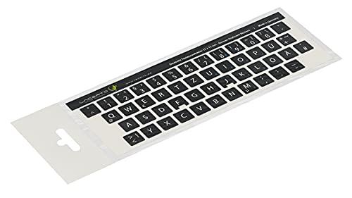 Lacerto® | 12x12mm Deutsche Aufkleber für PC/Laptop & Notebook Tastaturen mit mattem kratzfestem Laminat, Germany Keyboard Stickers QWERTZ | Farbe: Schwarz