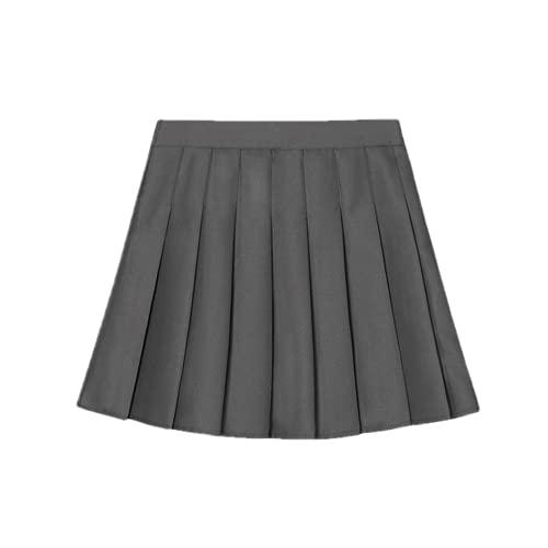 N\P Falda plisada para mujer de la universidad a prueba de viento una línea corta falda verano