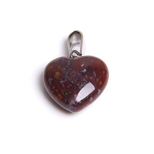LSNLNN 1pc Piedra de cuarzo natural, colgante de piedra de corazón de amor, colgantes para hacer joyas hechos a mano, collar A/M/Paridad