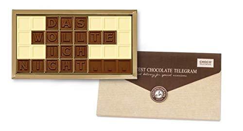 Es tut mir leid! - ChocoTelegram - Chocotelegram | Schokolade | Geschenk | Schokoladennachricht | Entschuldigung sagen | Schokoladentafeln | Geschenkidee | Geschenk zur Versöhnung | Verzeih mir