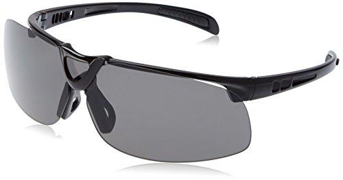 L.A. Sports sportbril Pro 15530 frameloze zonnebril outdoor sport vrije tijd l wisselglazen donker oranje helder UV-bescherming polariserend l zwart unisex dames heren