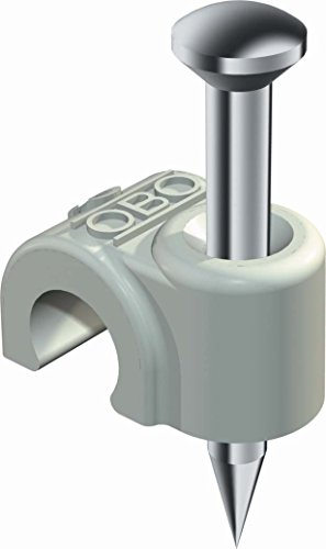 Obo-bettermann SISTEMA CONEX.FIJ. OBO ISO-Nagel-Clip 2007 für Kabel 7mm L: 35mm lichtgrau