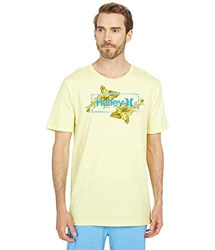 Hurley Men's Everyday Washed Split Flower S/S Shirt Lt. Zitron L