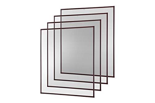 empasa Insektenschutz Fliegengitter Fenster Alurahmen Basic weiß, braun oder anthrazit, 100 x 120 cm 4er SET