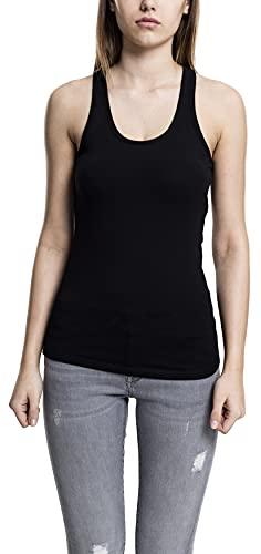Urban Classics Ladies Jersey Tanktop Camiseta Deportiva de Tirantes, Negro (Black 7), XL para Mujer