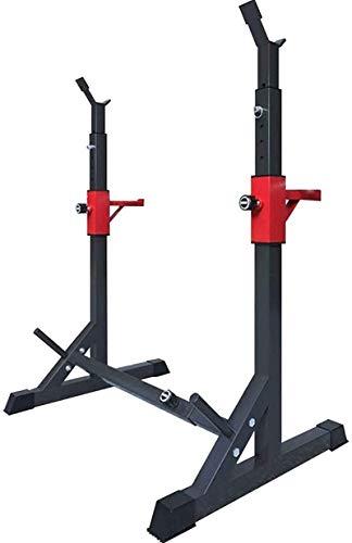 WXking Equipo de Inicio Multi Function Squat Rack Ajustable Barbell Barbell Peso Estante para Pases de Banco Pulse Pull Up Barbell Free Press Bench MAX Cargar 260 kg (flete aéreo)