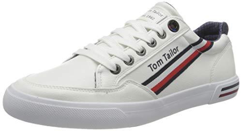 TOM TAILOR Herren 3283207 Sneaker, White, 43 EU