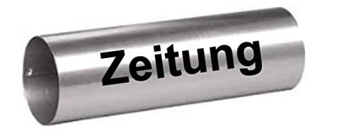 Generic Zeitung Aufkleber für Zeitungsrolle in 15cm, 20cm oder 25cm EIN Schriftzug Aufkleber Zeitung 157/7/2 (20cm, Schwarz Glanz)