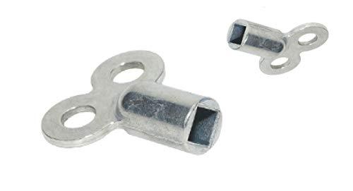 2x Heizkörper Entlüftungsschlüssel zum entlüften - Robust aus Metall - Passend für alle Heizungen
