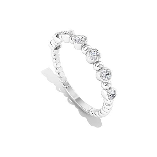 Rosec Jewels   14 quilates  oro blanco round-brilliant-shape   IJ Diamond